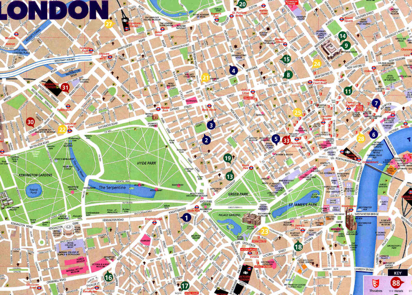 london tourism map